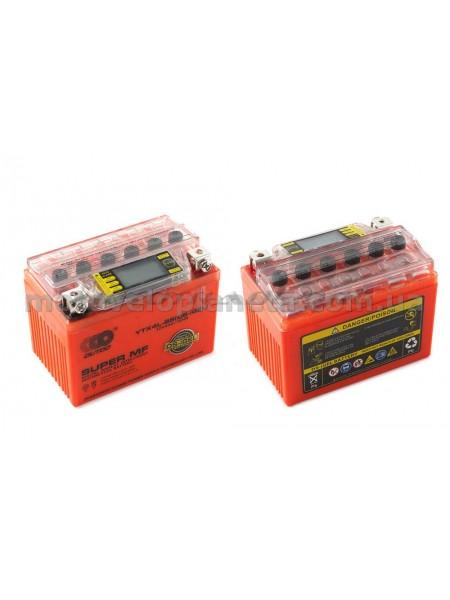 АКБ   12V 4А   гелевый   (114x71x88, оранжевый, с индикатором заряда, вольтметром)   OUTDO, шт