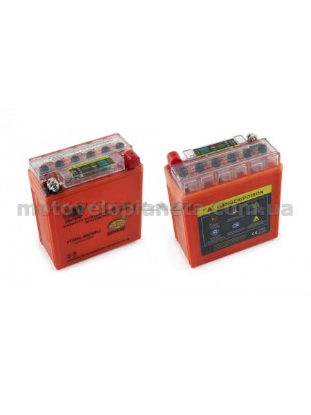 АКБ   12V 5А   гелевый   (высокий)   (119x60x128, оранжевый, с индикатором заряда)   OUTDO, шт