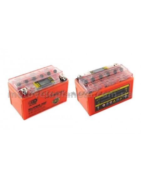 АКБ   12V 7А   гелевый   (150x85x95, оранжевый, с индикатором заряда, вольтметром)   OUTDO, шт