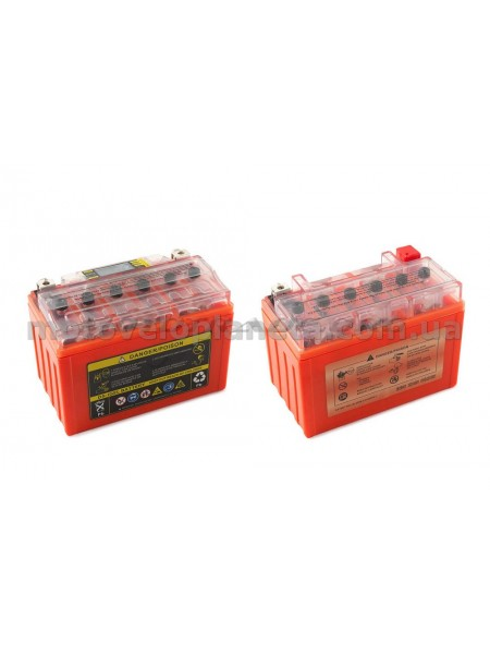 АКБ   12V 9А   гелевый    (152x88x106, оранжевый, с индикатором заряда, вольтметром)   OUTDO, шт