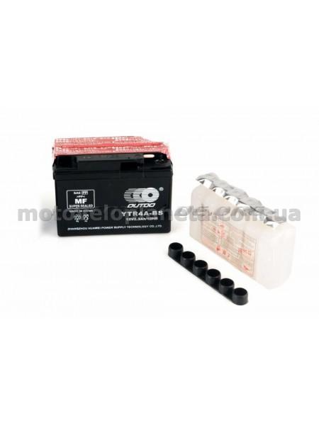 АКБ   12V 2,3А   кислотный, Suzuki   (114x39x87, черный, mod:GT  4B-5) (+электролит)   OUTDO, шт