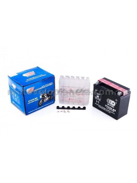 АКБ   12V 18А   кислотный   (175x87x155, черный, mod:UTX  20-BS) (+электролит)   OUTDO, шт