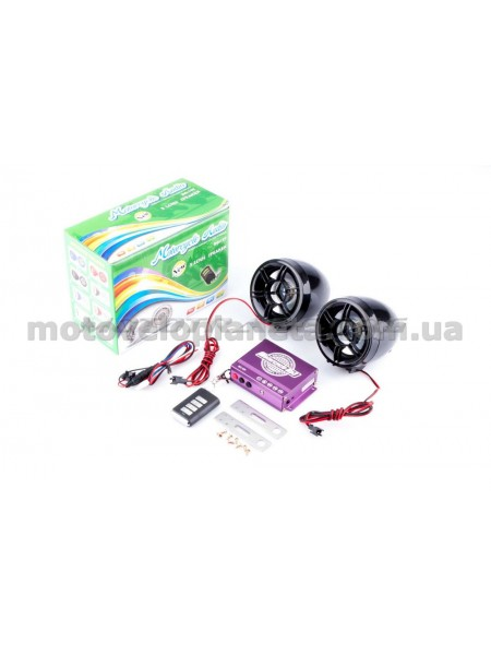Аудиосистема   (3, черные, сигн., МР3/FM/MicroSD/USB, ПДУ, разъем ППДУ 3.5mm)   ZUNA, шт
