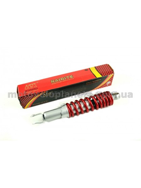 Амортизатор   GY6   340mm, регулируемый   (красный металлик)   NDT, шт