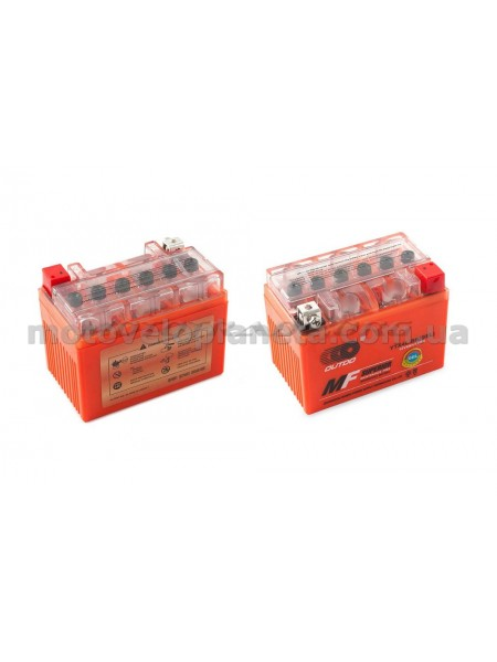 АКБ   12V 4А   гелевый   (112x68x85, оранжевый, mod:YTX4L-BS)   OUTDO, шт