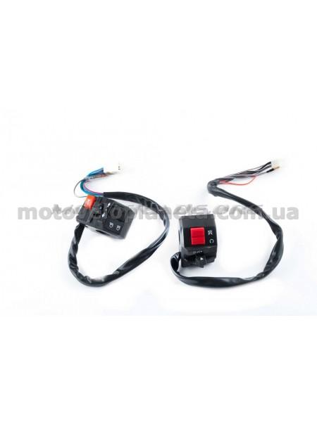 Блоки кнопок руля (пара)   Zongshen SPARK R6   (черные)   XVP, пара