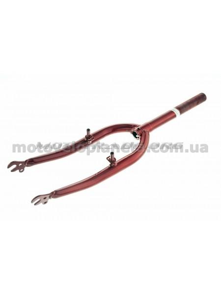 Вилка велосипедная жесткая   (c креплением V-brake, 20)   (красная)   DS, шт