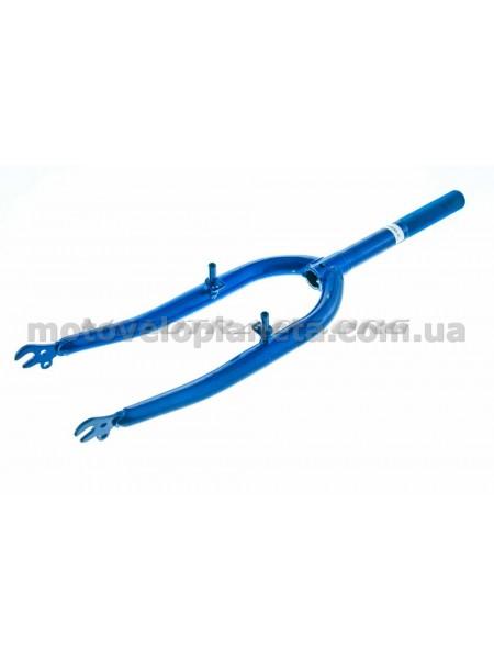 Вилка велосипедная жесткая   (c креплением V-brake, 22)   (синяя)   DS   mod B, шт