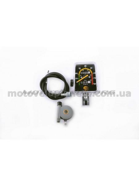 Спидометр велосипедный (механический) (+привод спидометра, трос)   YAT, компл.