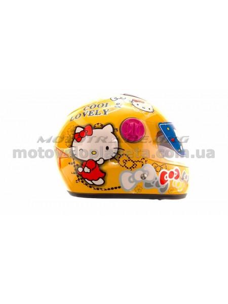 Шлем детский интеграл   (желтый)   (COOLLOVELY)   FGN, шт