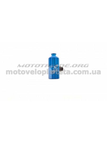 Велосипедная фляга (алюминиевая, синяя) (500ml)   YKX, шт