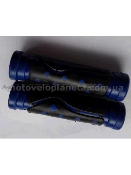 Ручки руля велосипедные   (синие)   (mod:3)   YKX, компл.