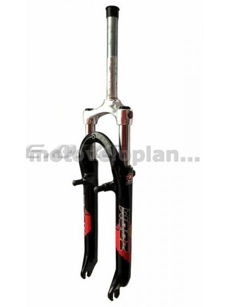 Вилка велосипедная амортизационная   (красная, алюминий, V-Brake)   (550)   (ZOOM)   KL, шт