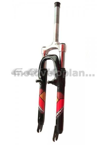 Вилка велосипедная амортизационная   (красная, алюминий, V-Brake)   (386)   (ZOOM )  KL, шт