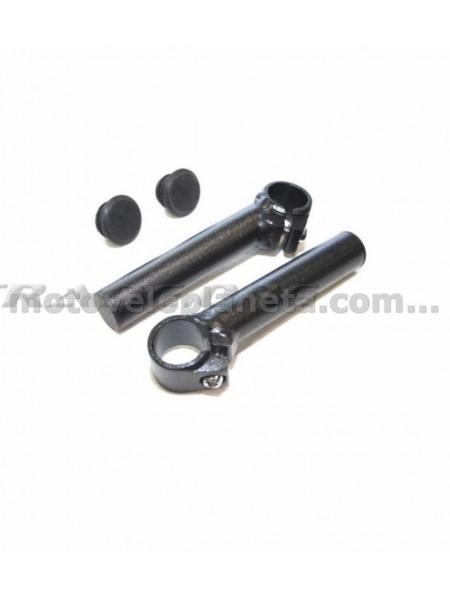 Упоры для рук велосипеда   (рога)   (прямые, литьевые, черные)   KL, пара