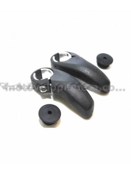 Упоры для рук велосипеда   (рога)   (черные, пластиковые)   KL, пара
