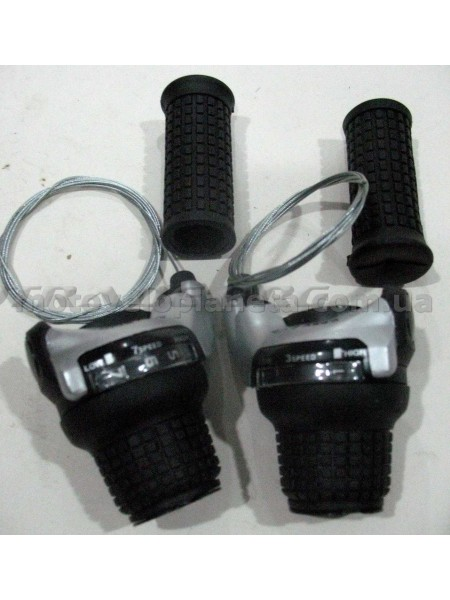 Ревошифт переключения скоростей велосипеда   (L-3, R-6 скоростей) (+ручки руля)   (YD-K36А)   KL, пара
