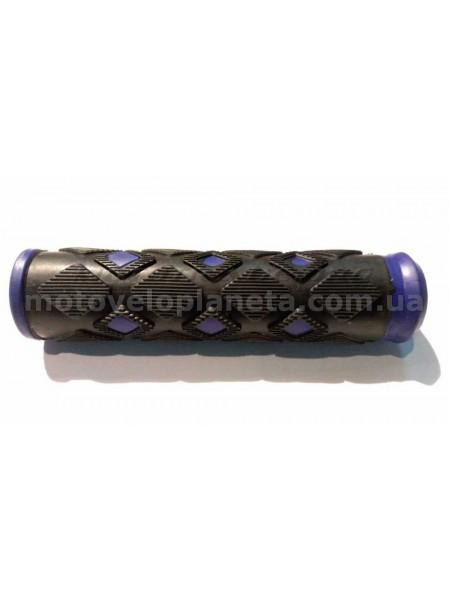 Ручки руля велосипедные   (фиолетовые)   (mod:2)   YKX, компл.