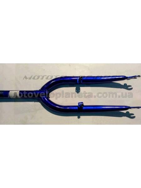 Вилка велосипедная жесткая   (c креплением V-brake, 20)   (синяя)   DS, шт