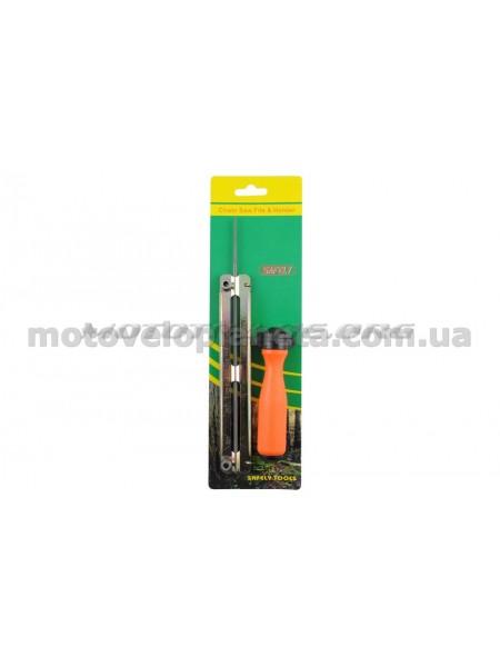 Напильник бензопильный   Ø4,0mm   (+планка ручка)   SAFELY, шт