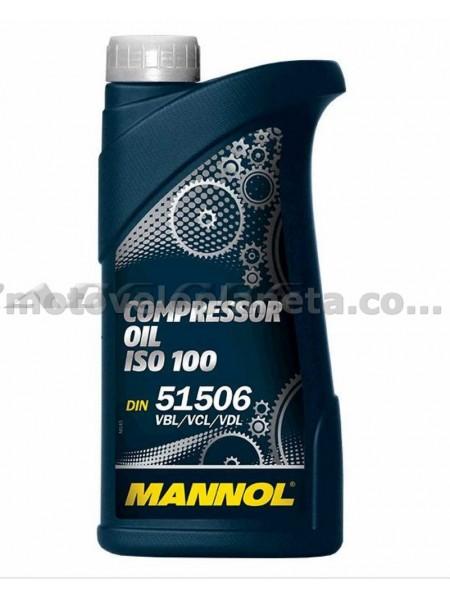 Масло   1л   (компрессорное, Compressor Oil ISO 100)   MANNOL, шт