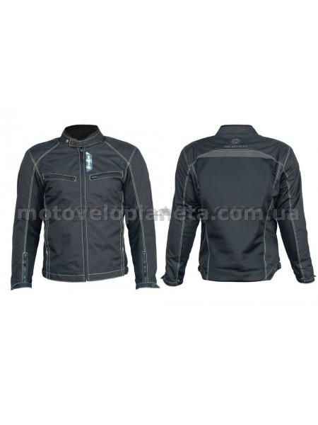 Мотокуртка   (кожзам) (черная, усиление на плечах, груди size L), шт