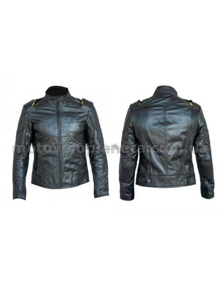 Мотокуртка   (кожа) (черная size XL), шт