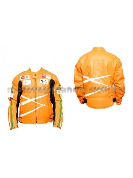 Мотокуртка   DAQINESE   (кожзам) (size:L, оранжевая), шт