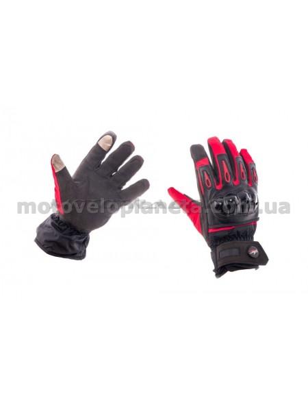 Перчатки   (красно-черные, size L) с накладкой на кисть, пара