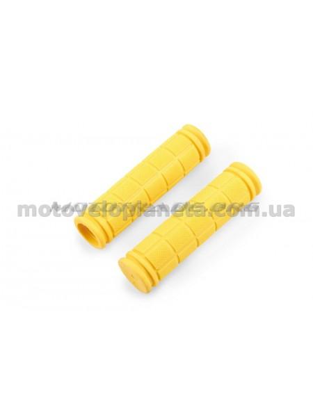 Ручки руля велосипедные   (желтые)   REKO, компл.