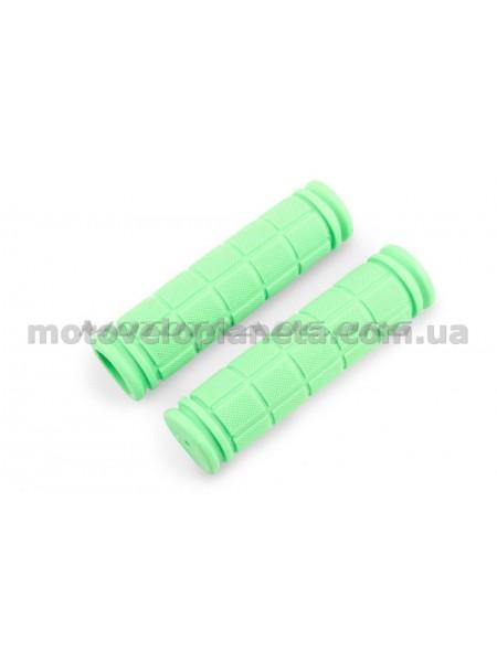 Ручки руля велосипедные   (зеленые)   REKO, компл.