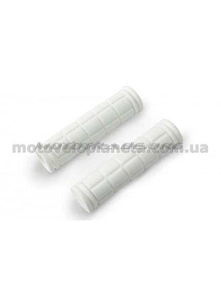 Ручки руля велосипедные   (белые)   REKO, компл.