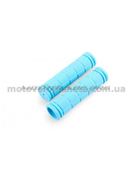 Ручки руля велосипедные   (синие)   REKO, компл.