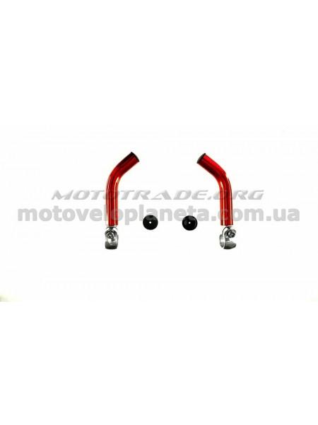Упоры для рук велосипеда   (рога)   (красные)   DS, компл.