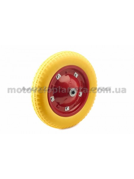 Колесо   3,00 -8   TL   (бескамерное, под ось D-16мм )   (желтое)   MRHD, шт