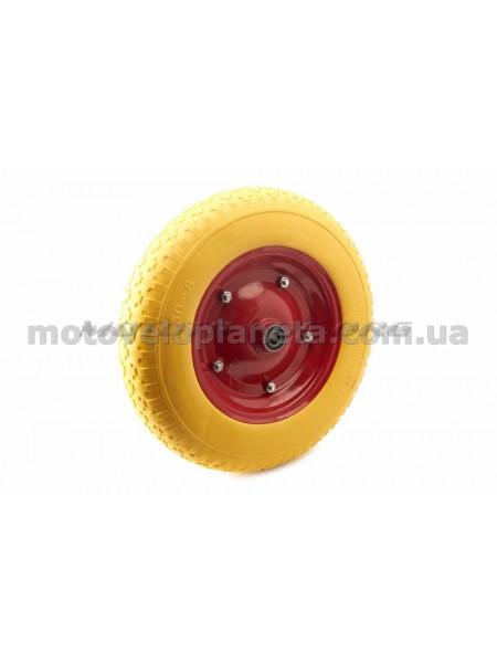 Колесо   3,50 -8   TL   (бескамерное, под ось d-16мм )   (желтое)   MRHD, шт