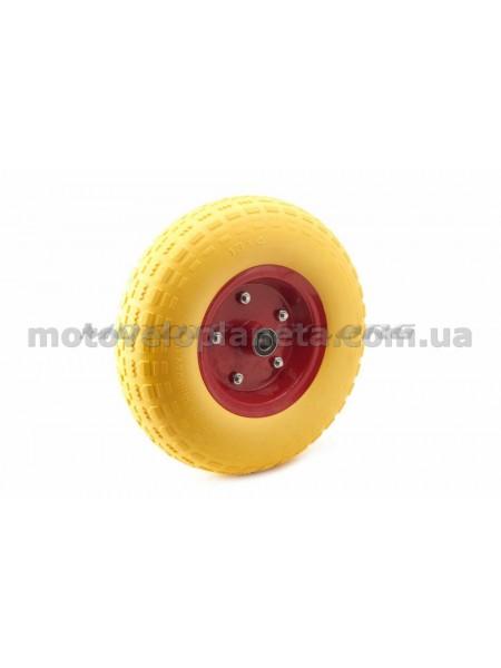 Колесо   4,00 -6   TL   (бескамерное, под ось d-16мм )   (желтое)   MRHD, шт