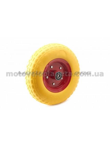 Колесо   4,00 -6   TL   (бескамерное, под ось d-20мм )   (желтое)   MRHD, шт