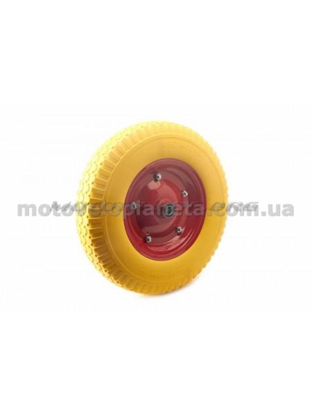 Колесо   4,00 -8   TL   (бескамерное, под ось d-16мм )   (желтое)   MRHD, шт