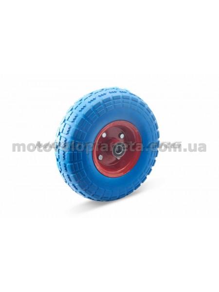 Колесо   4,10/3,50 -4   TL   (бескамерное, под ось d-16мм )   (синее)   MRHD, шт