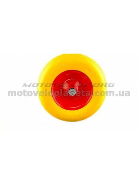 Колесо   4,00 -6   TL   (бескамерное, ось D-16мм )    (силикон, желтое)   ELIT, шт