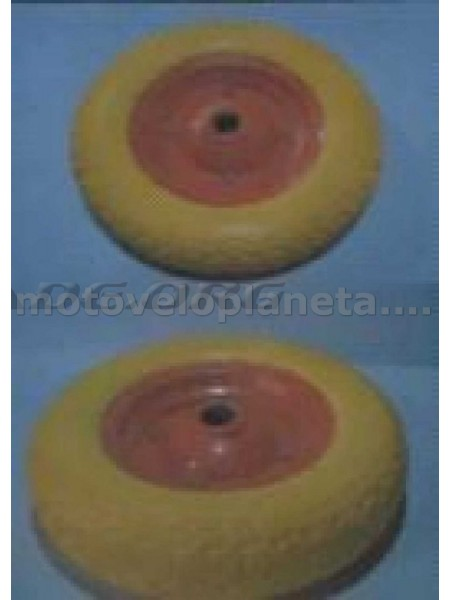 Колесо   3,50 -7   TL   (прессрезина, под ось d-20мм )   (желтое)   MRHD, шт