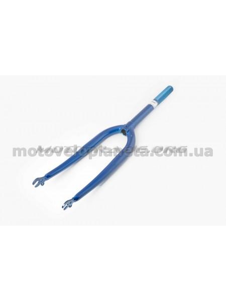 Вилка велосипедная жесткая   (20)   (синяя)   YAT, шт