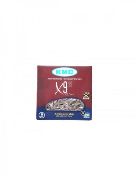 """Цепь горная КМС Х9 1/2""""x11/128 (хромированная, с замком, 9 скоростей, 116 звеньев) """"КБ"""" (КБ-0989)"""
