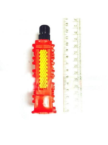 Педали велосипедные пластмассовые (детские),mod:JD-32 (#MD) цвет:красный