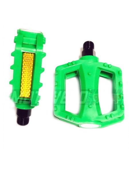 Педали велосипедные пластмассовые (детские),mod:JD-28 (#MD) цвет:зеленый