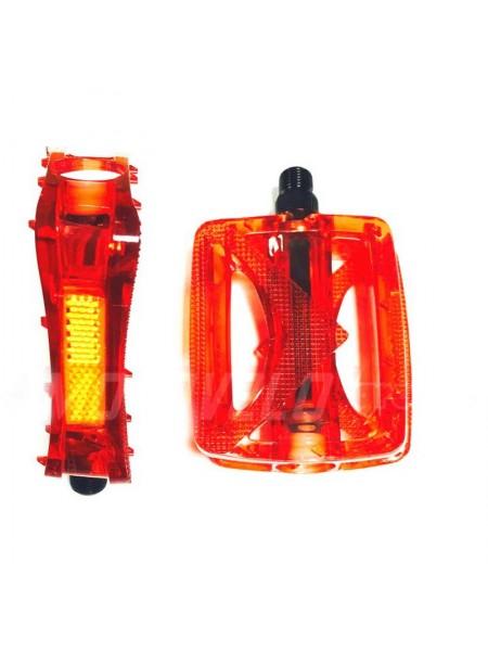 Педали для горного велосипеда (поликарбонат),mod:JD-185 (#MD) цвет:красный