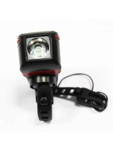 Фара велосипедная (передняя с сигналом, сенсорная, с креплением, зарядка под USB) (#MD), mod:ZH-7599 (GA-27)