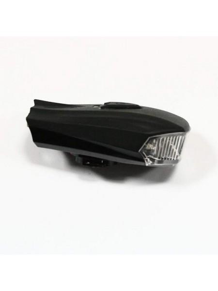 Фара велосипедная (передняя с индикатором, с креплением, зарядка под USB, белый/желтый цвет) (#MD), mod:MK-350 (GA-26)