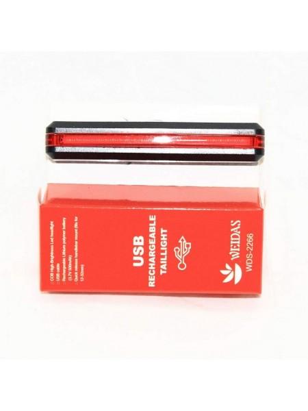 Мигалка задняя (зарядка под  USB, красный) (#MD), mod:RPL-2266 (GA-38)